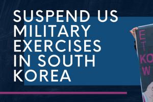 이제 그만 한반도에서 전쟁연습을 끝내야하지 않겠는가?